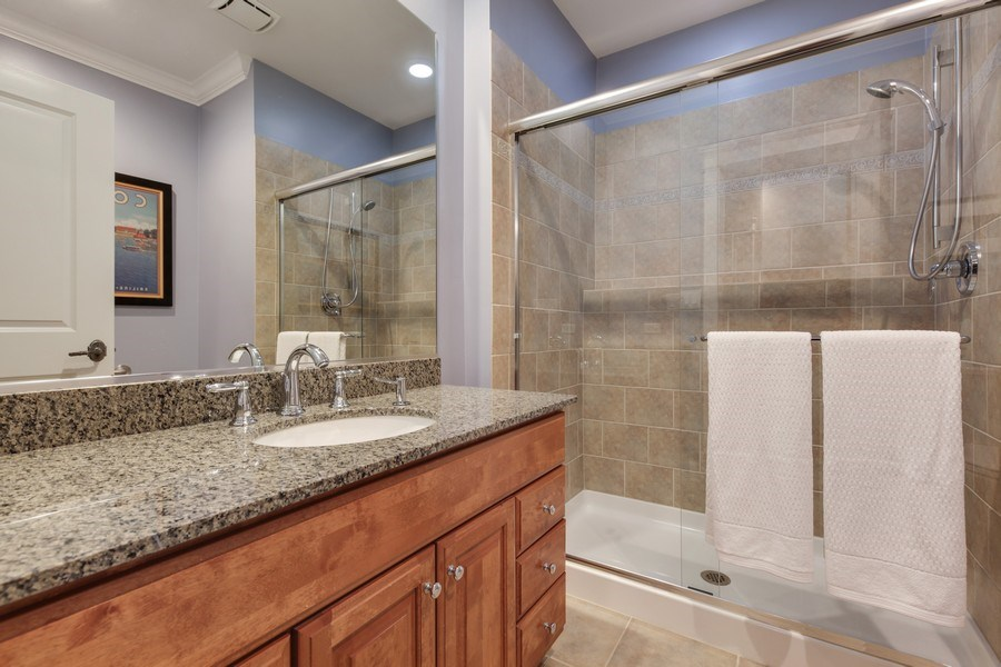 Real Estate Photography - 1352 Cavell, Highland Park, IL, 60035 - Third Bathroom