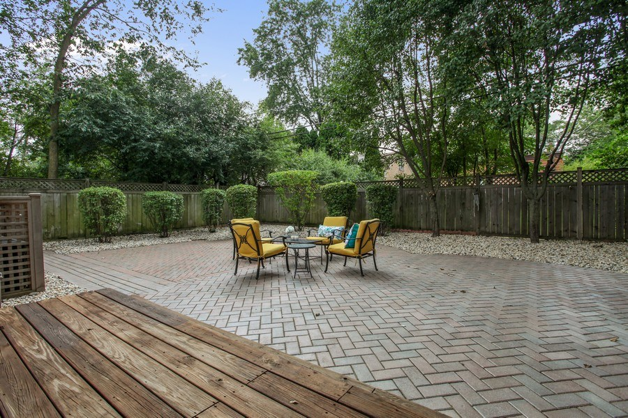 Real Estate Photography - 1352 Cavell, Highland Park, IL, 60035 - Patio