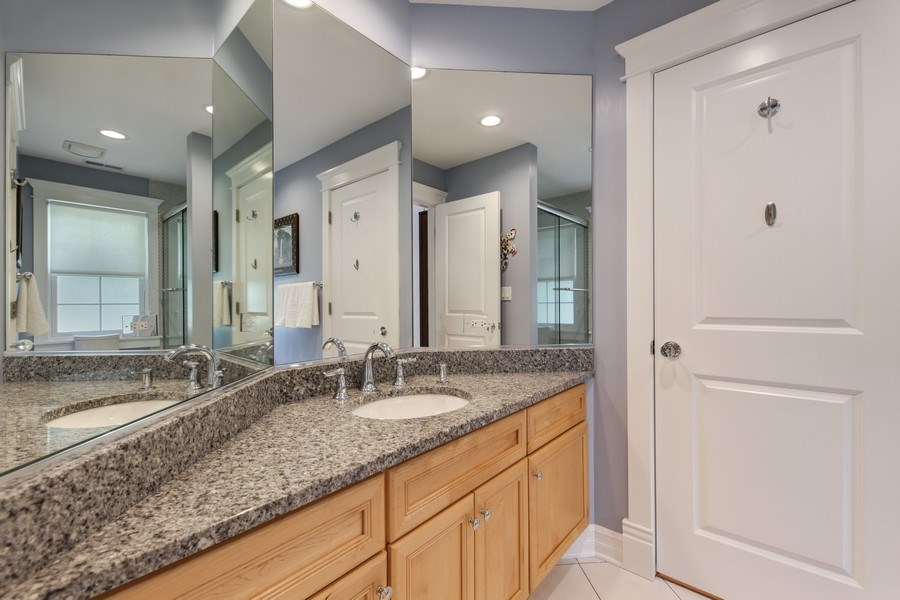 Real Estate Photography - 1352 Cavell, Highland Park, IL, 60035 - 2nd Bathroom
