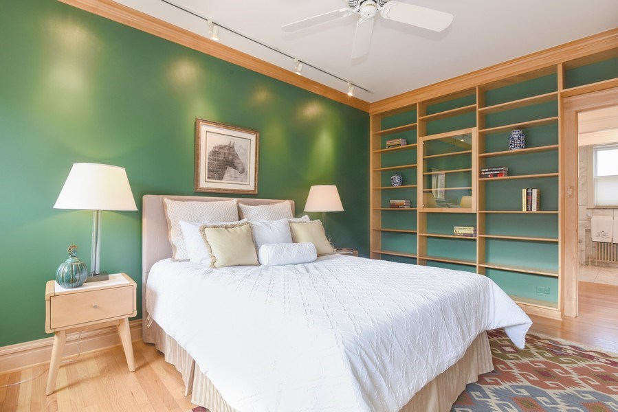 Real Estate Photography - 642 Sheridan Pl, 3, Evanston, IL, 60202 - 2nd Bedroom or Library