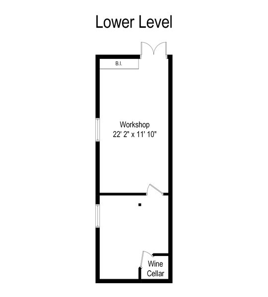 Real Estate Photography - 642 Sheridan Pl, 3, Evanston, IL, 60202 - Floor Plan of Personal Space in Basement