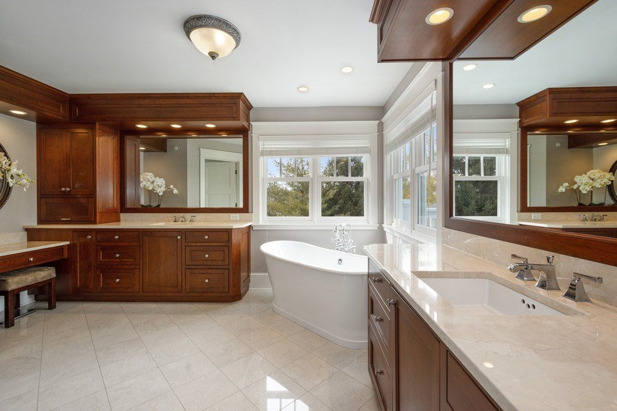 Real Estate Photography - 308 S Cook St, Barrington, IL, 60010 - Master Bathroom