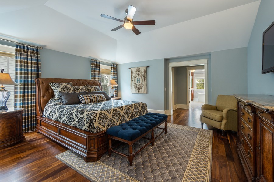 Real Estate Photography - 308 S Cook St, Barrington, IL, 60010 - Master Bedroom