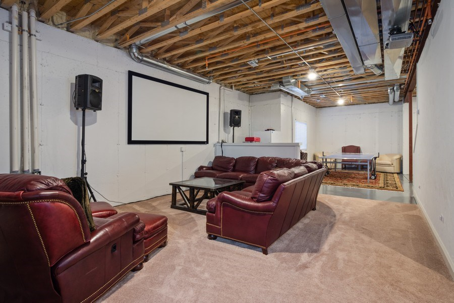 Real Estate Photography - 308 S Cook St, Barrington, IL, 60010 - Media Room