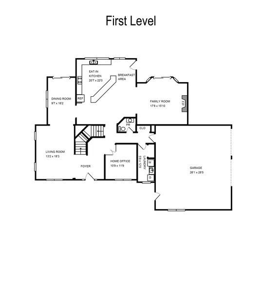 Real Estate Photography - 2383 Autumn Ridge, Saint Joseph, MI, 49085 - Floor Plan