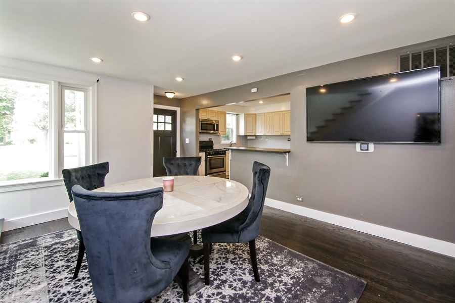 Real Estate Photography - 323 Neva Ave, Glenview, IL, 60025 - Kitchen / Dining Room