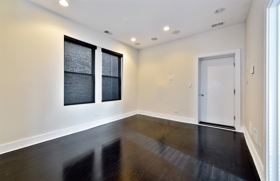 Real Estate Photography - 2052 N Campbell, Chicago, IL, 60647 - Living Room