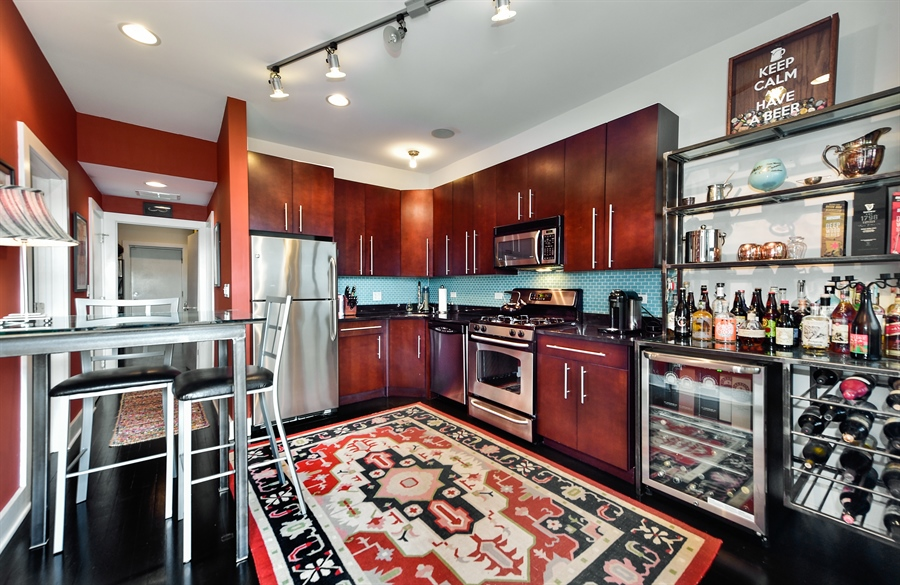 Real Estate Photography - 2052 N Campbell, Chicago, IL, 60647 - Kitchen