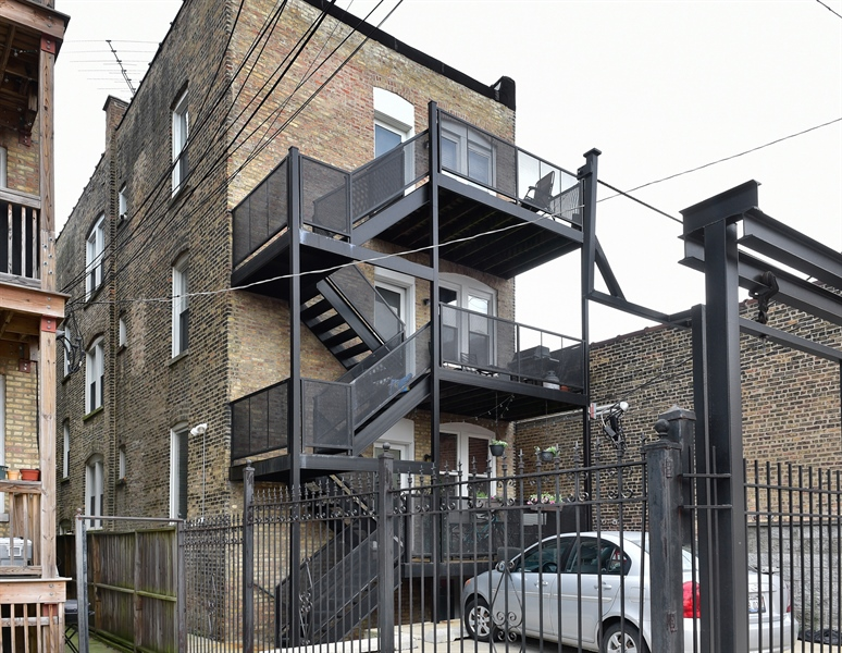 Real Estate Photography - 2052 N Campbell, Chicago, IL, 60647 - Rear View