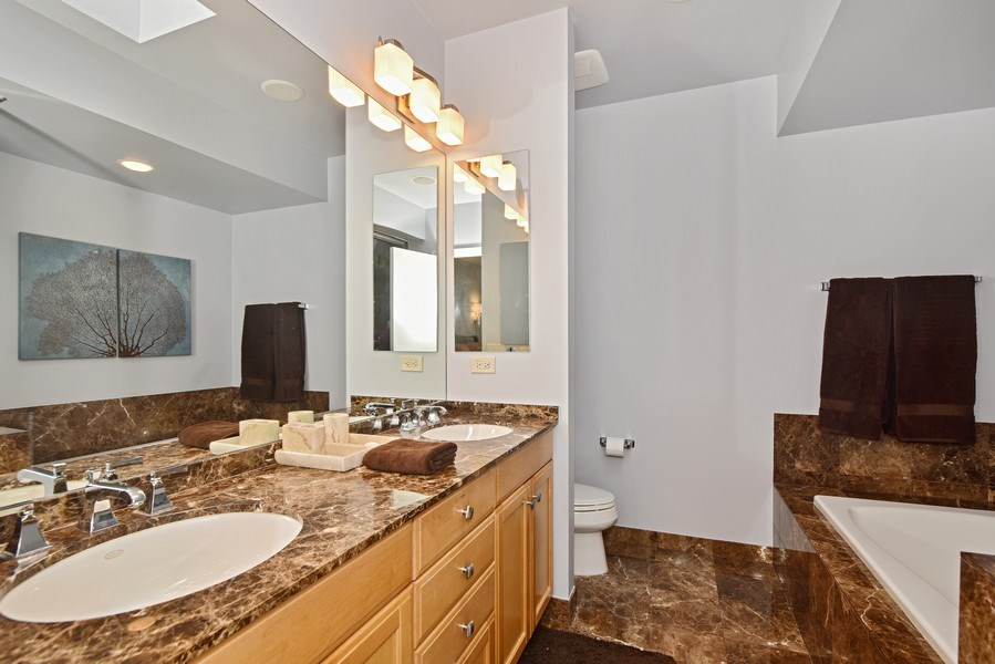 Real Estate Photography - 1816 S Indiana, Unit F, Chicago, IL, 60616 - Master Bathroom