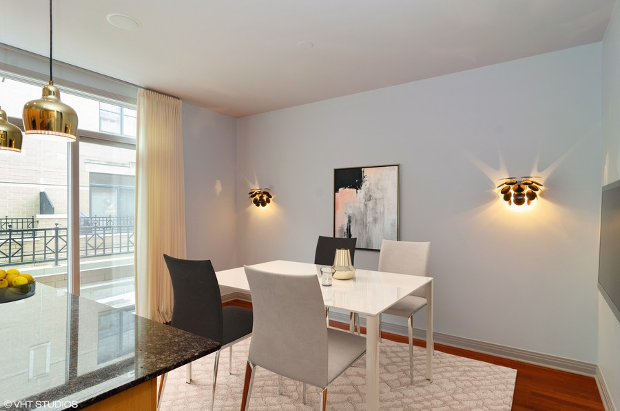 Real Estate Photography - 1816 S Indiana, Unit F, Chicago, IL, 60616 - Breakfast Room Staged