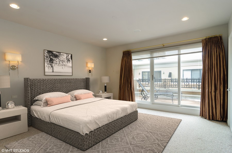 Real Estate Photography - 1816 S Indiana, Unit F, Chicago, IL, 60616 - Master Bedroom Staged