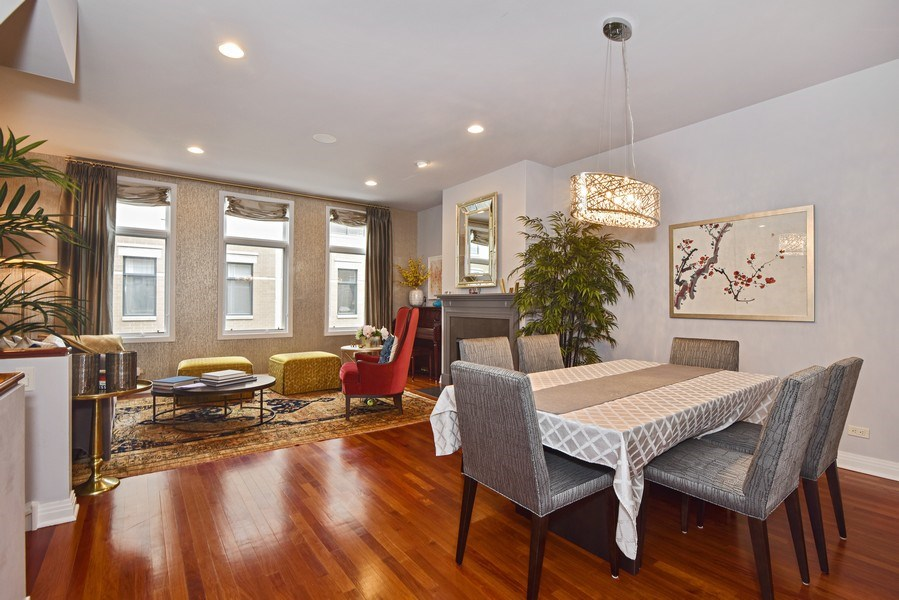 Real Estate Photography - 1816 S Indiana, Unit F, Chicago, IL, 60616 - Living Room & Dining Room