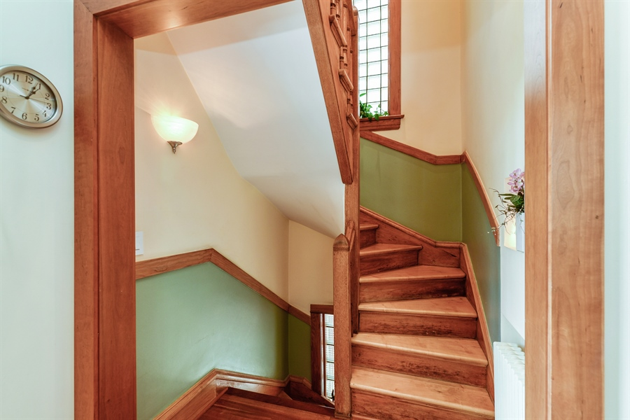 Real Estate Photography - 2017 W. Walton, Chicago, IL, 60622 - Rear Stairs
