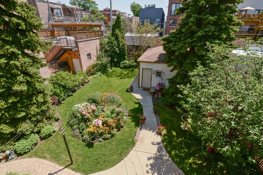Real Estate Photography - 2017 W. Walton, Chicago, IL, 60622 - View from Upstairs Deck