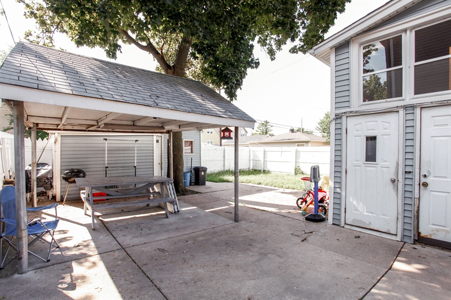 Real Estate Photography - 124 N 17th Ave, Melrose Park, IL, 60160 - Rear View