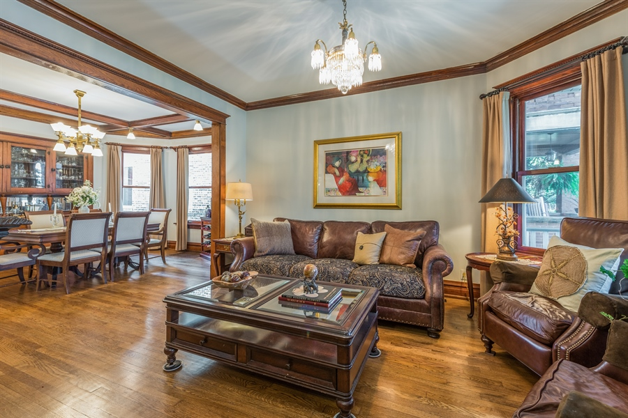 Real Estate Photography - 3833 N Ridgeway Ave, Chicago, IL, 60618 - Living Room