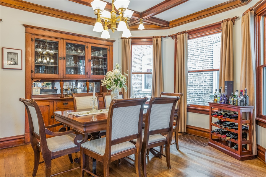 Real Estate Photography - 3833 N Ridgeway Ave, Chicago, IL, 60618 - Dining Room