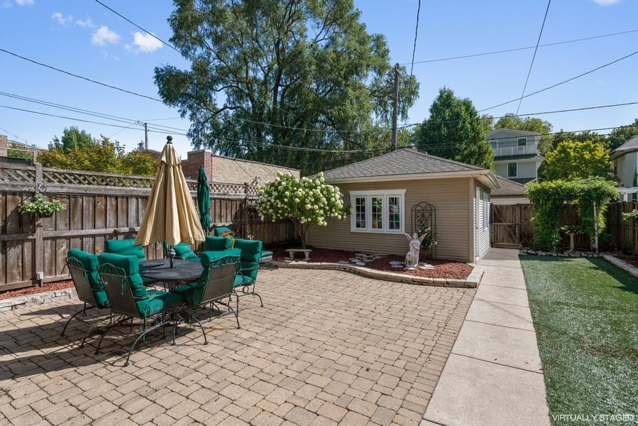 Real Estate Photography - 3833 N Ridgeway Ave, Chicago, IL, 60618 - Back Yard