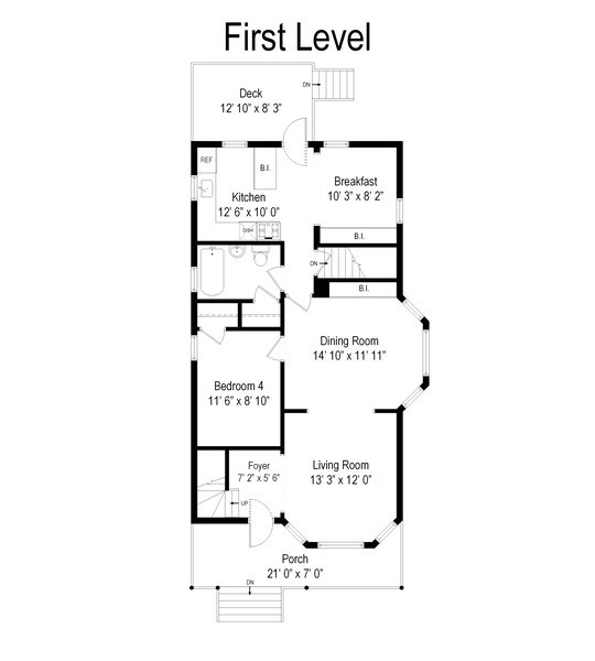 Real Estate Photography - 3833 N Ridgeway Ave, Chicago, IL, 60618 - Floor Plan