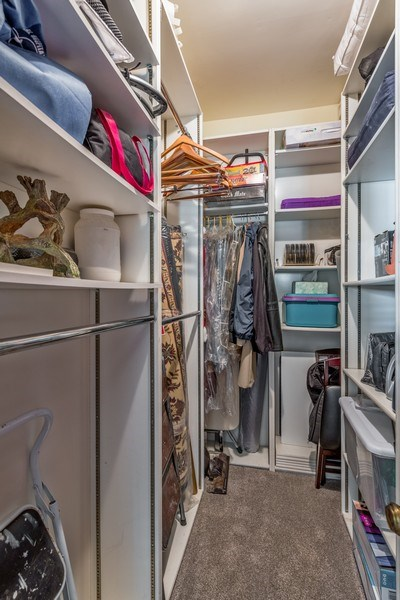 Real Estate Photography - 3833 N Ridgeway Ave, Chicago, IL, 60618 - Master Bedroom Closet