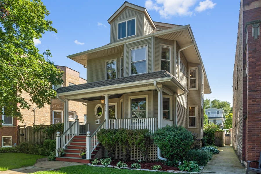 Real Estate Photography - 3833 N Ridgeway Ave, Chicago, IL, 60618 - Front View