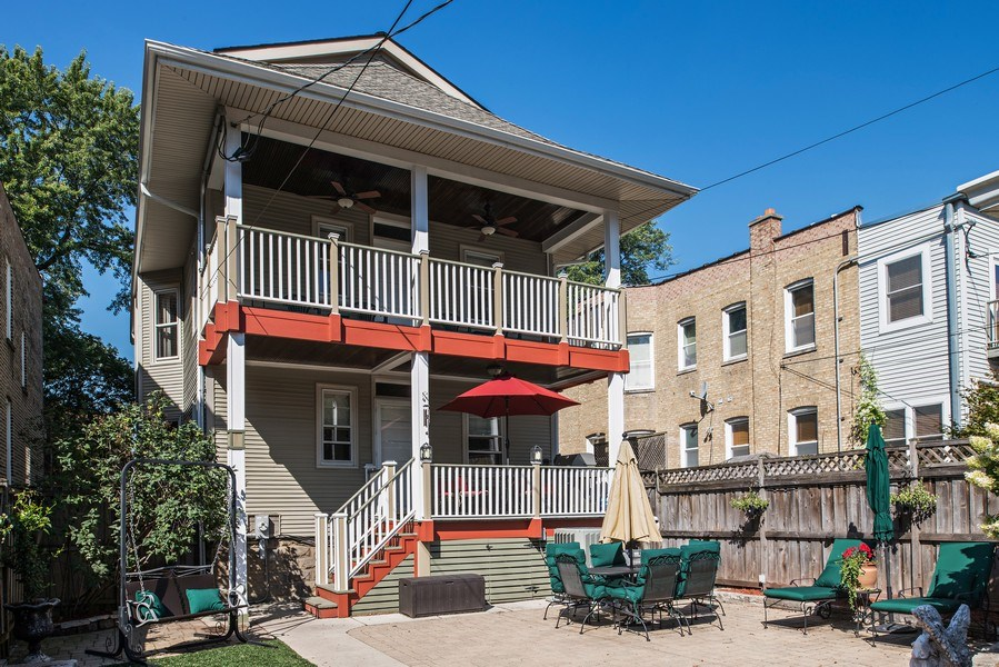 Real Estate Photography - 3833 N Ridgeway Ave, Chicago, IL, 60618 - Rear View