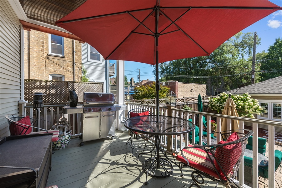 Real Estate Photography - 3833 N Ridgeway Ave, Chicago, IL, 60618 - Deck