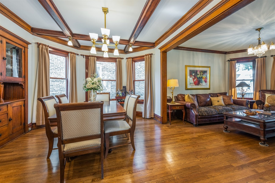 Real Estate Photography - 3833 N Ridgeway Ave, Chicago, IL, 60618 - Living Room / Dining Room