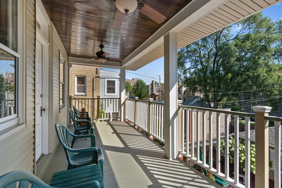 Real Estate Photography - 3833 N Ridgeway Ave, Chicago, IL, 60618 - Balcony