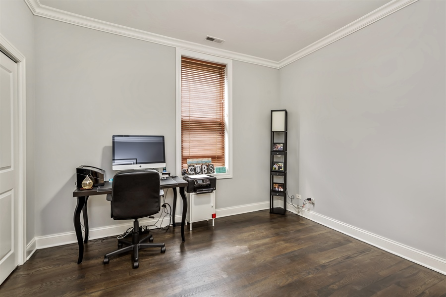 Real Estate Photography - 15 N Bishop, Unit #2, Chicago, IL, 60607 - 2nd Bedroom