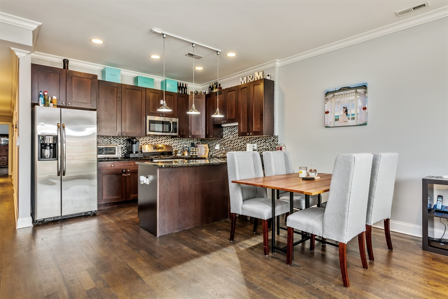 Real Estate Photography - 15 N Bishop, Unit #2, Chicago, IL, 60607 - Kitchen / Dining Room