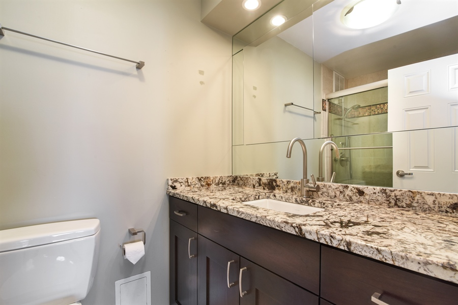 Real Estate Photography - 155 N Harbor Dr, Unit #3102, Chicago, IL, 60601 - Master Bathroom