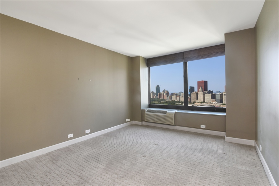 Real Estate Photography - 155 N Harbor Dr, Unit #3102, Chicago, IL, 60601 - Master Bedroom