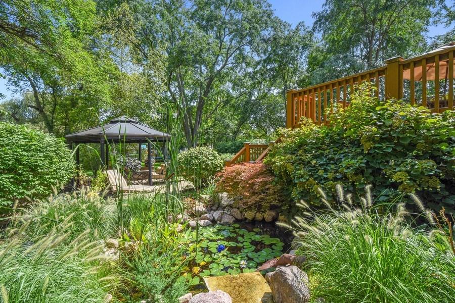 Real Estate Photography - 723 Exmoor Ave, Barrington, IL, 60010 - Koi Pond/Gazebo