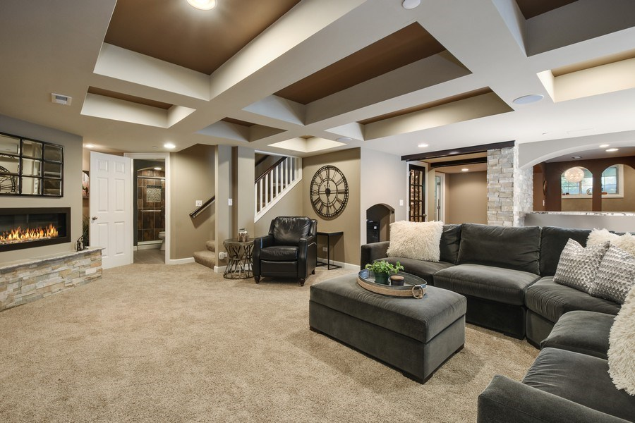 Real Estate Photography - 723 Exmoor Ave, Barrington, IL, 60010 - Recreation Room