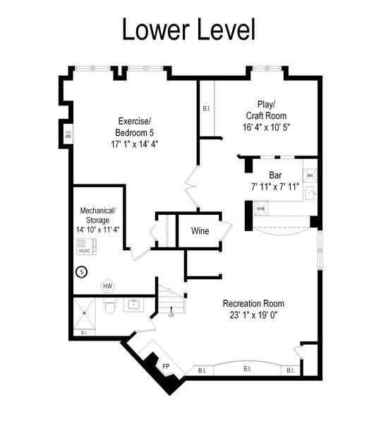 Real Estate Photography - 723 Exmoor Ave, Barrington, IL, 60010 - Floor Plan