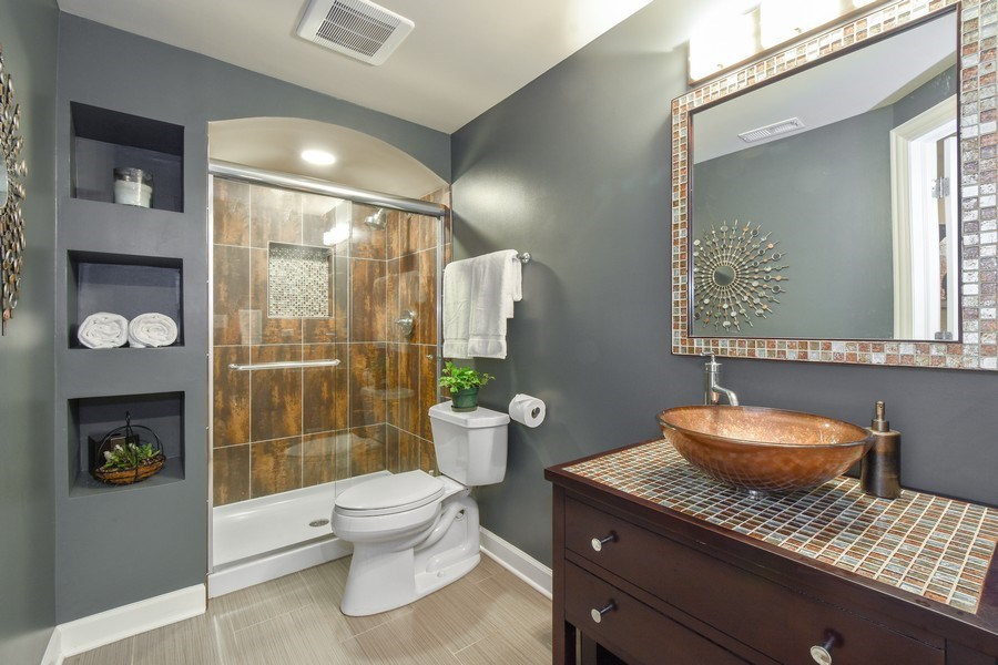 Real Estate Photography - 723 Exmoor Ave, Barrington, IL, 60010 - Basement Bathroom