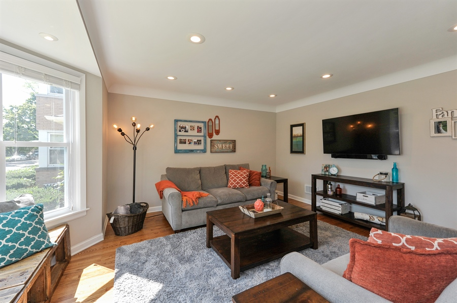 Real Estate Photography - 6108 N Christiana, Chicago, IL, 60659 - Living Room
