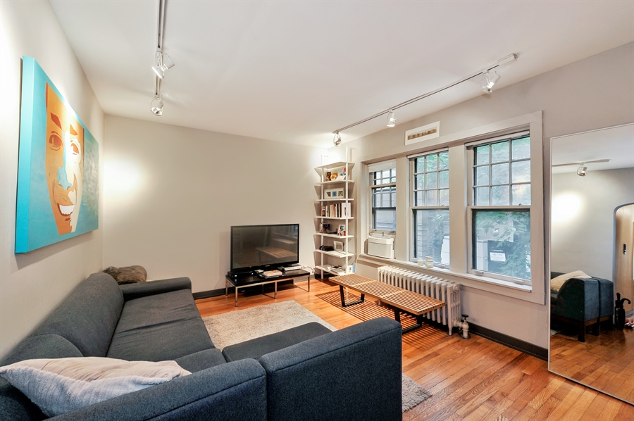Real Estate Photography - 2317 N Cambridge, Unit 1S, Chicago, IL, 60614 - Living Room