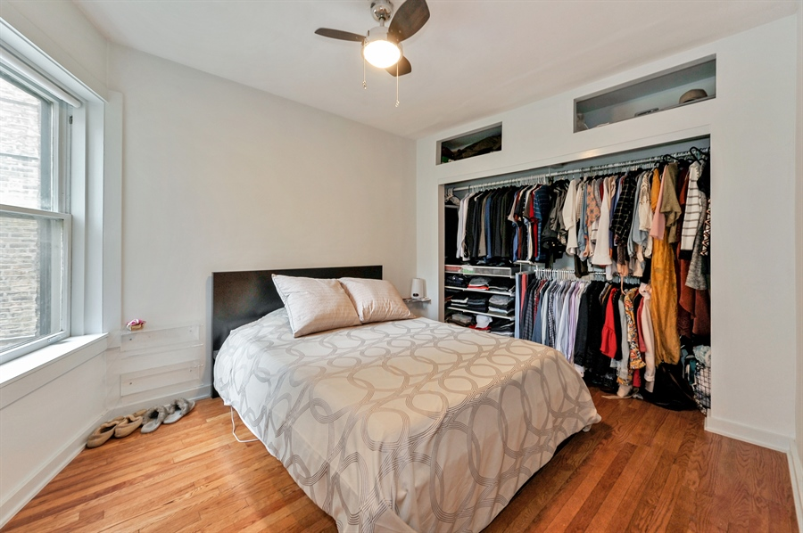 Real Estate Photography - 2317 N Cambridge, Unit 1S, Chicago, IL, 60614 - Master Bedroom