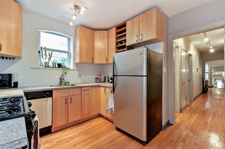 Real Estate Photography - 2317 N Cambridge, Unit 1S, Chicago, IL, 60614 - Kitchen