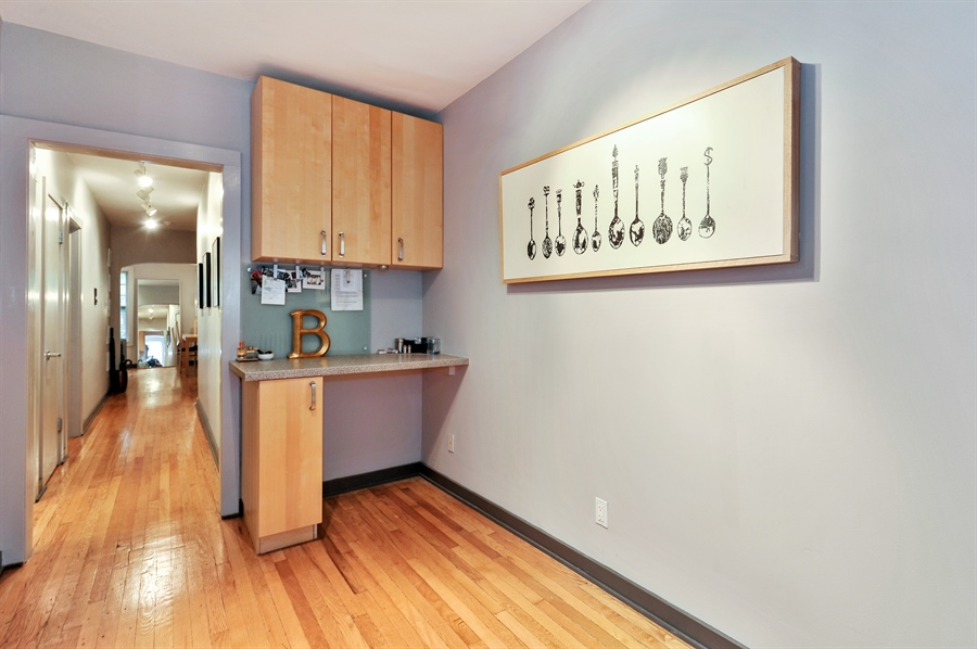 Real Estate Photography - 2317 N Cambridge, Unit 1S, Chicago, IL, 60614 - Kitchen / Breakfast Room