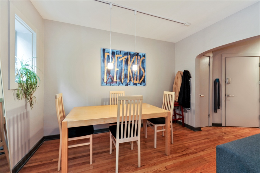Real Estate Photography - 2317 N Cambridge, Unit 1S, Chicago, IL, 60614 - Dining Room