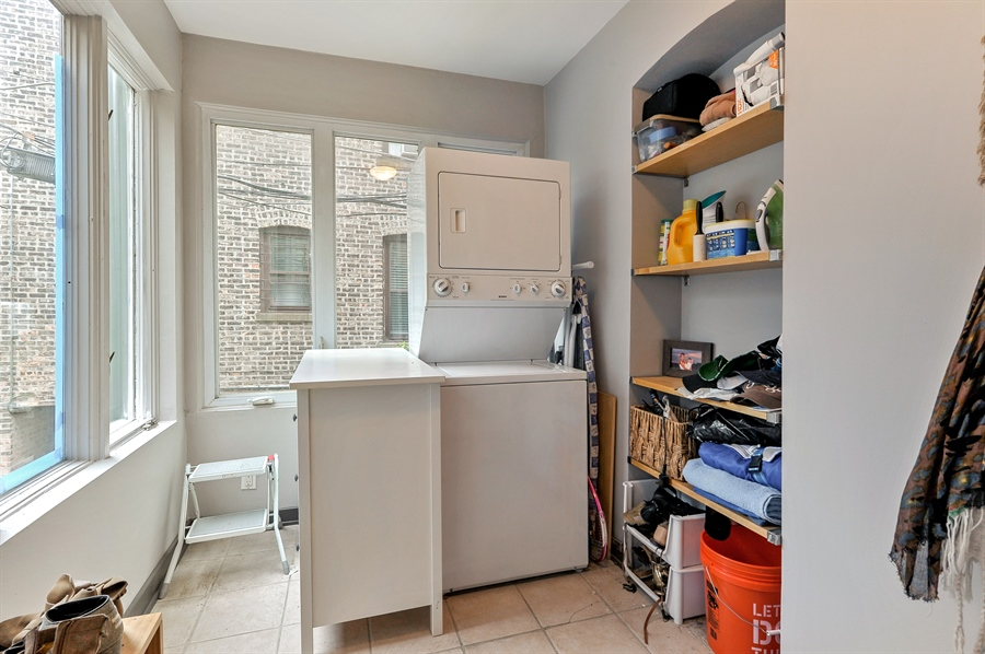 Real Estate Photography - 2317 N Cambridge, Unit 1S, Chicago, IL, 60614 - Laundry Room