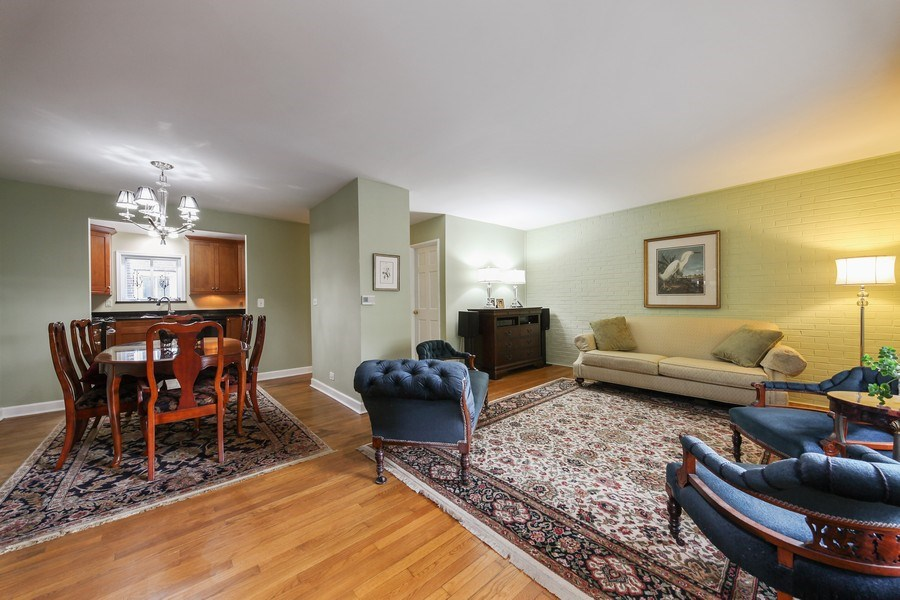 Real Estate Photography - 625 Mulberry Pl, #A, Highland Park, IL, 60035 - Living Room / Dining Room
