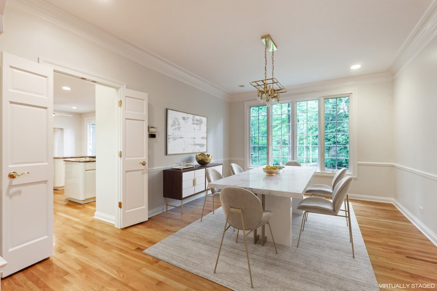 Real Estate Photography - 839 Bob O Link Rd, Highland Park, IL, 60035 - Dining Room