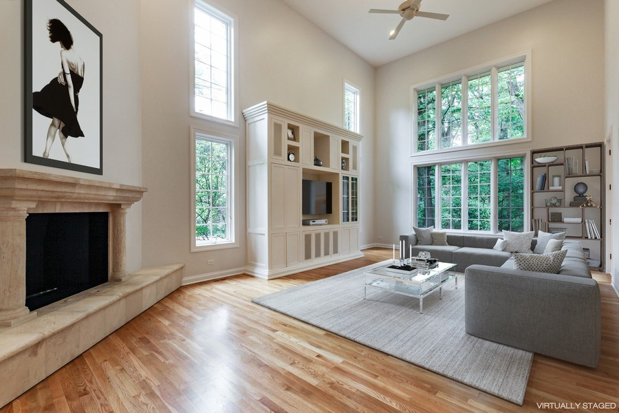 Real Estate Photography - 839 Bob O Link Rd, Highland Park, IL, 60035 - Great Room