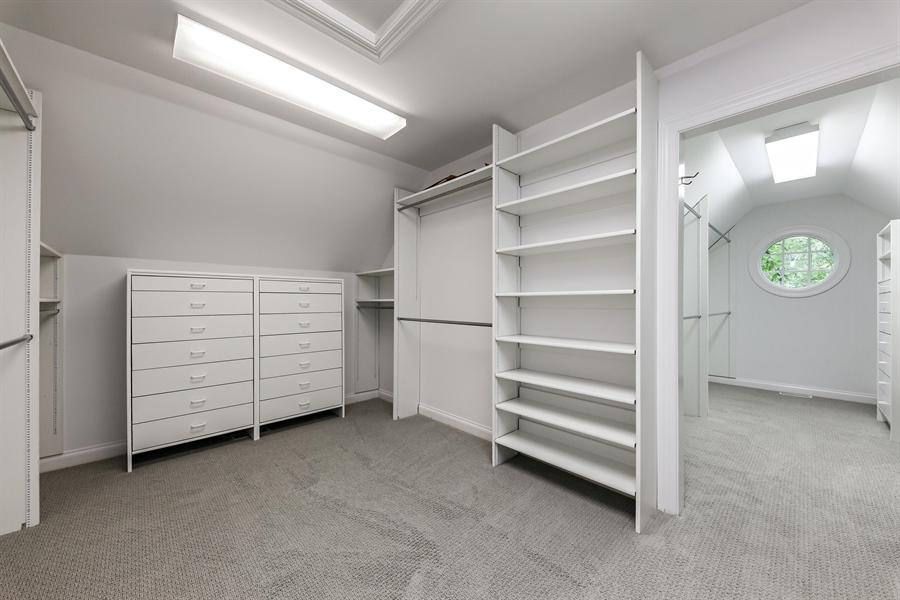 Real Estate Photography - 839 Bob O Link Rd, Highland Park, IL, 60035 - Master Bedroom Closet