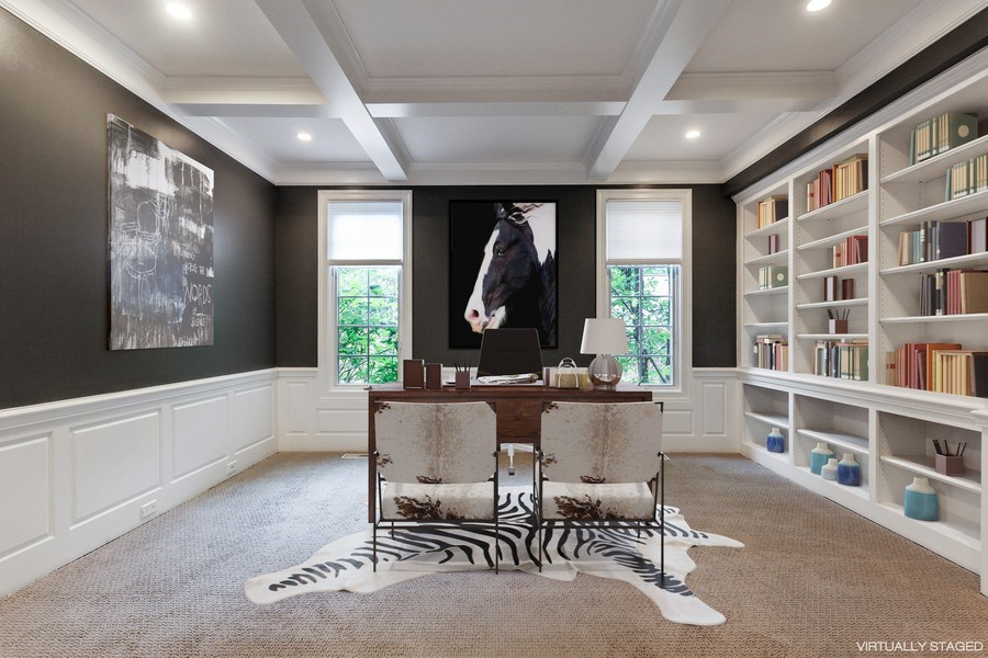 Real Estate Photography - 839 Bob O Link Rd, Highland Park, IL, 60035 - Office